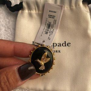 Kate Spade Grandma's Closet Bird Cameo Ring Size 6